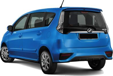 Perodua Alza - Back