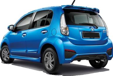 Perodua Myvi - Back